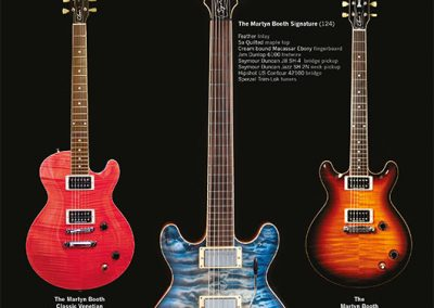 Martyn Booth Guitars Guitarist Magazine Advertisment