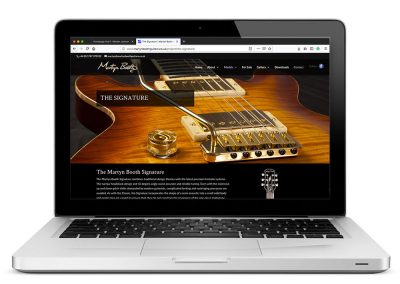 Martyn Booth Guitars Website