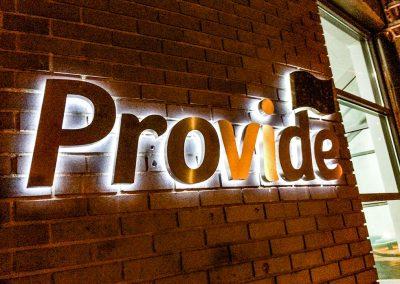 Provide Illuminated External Signage