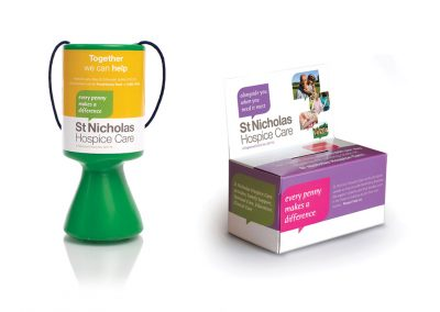 St Nicholas Hospice Care Collection Boxes