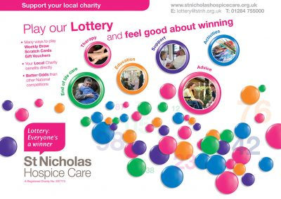 St Nicholas Hospice Care Lottery PopUp Stand