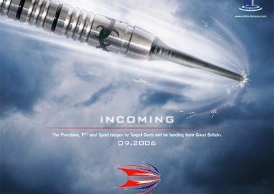 Target Darts Incoming Poster