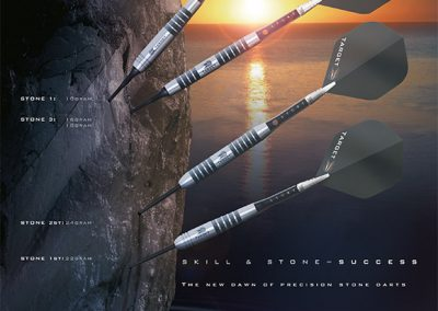 Target Darts Stone Poster