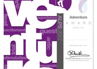 CMAT Adventure Award Certificate