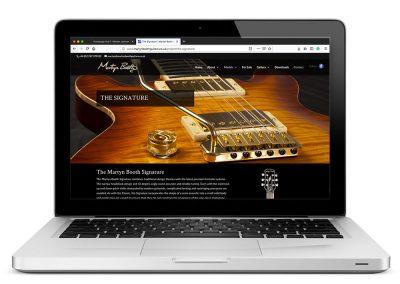 Martyn Booth Guitars Website