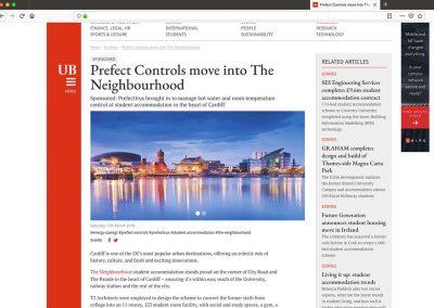 Prefect Controls UB Cardiff Article