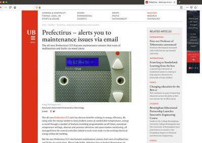Prefect Controls UB Email Alert Article