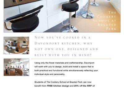 Davonport Cookery School Promotion